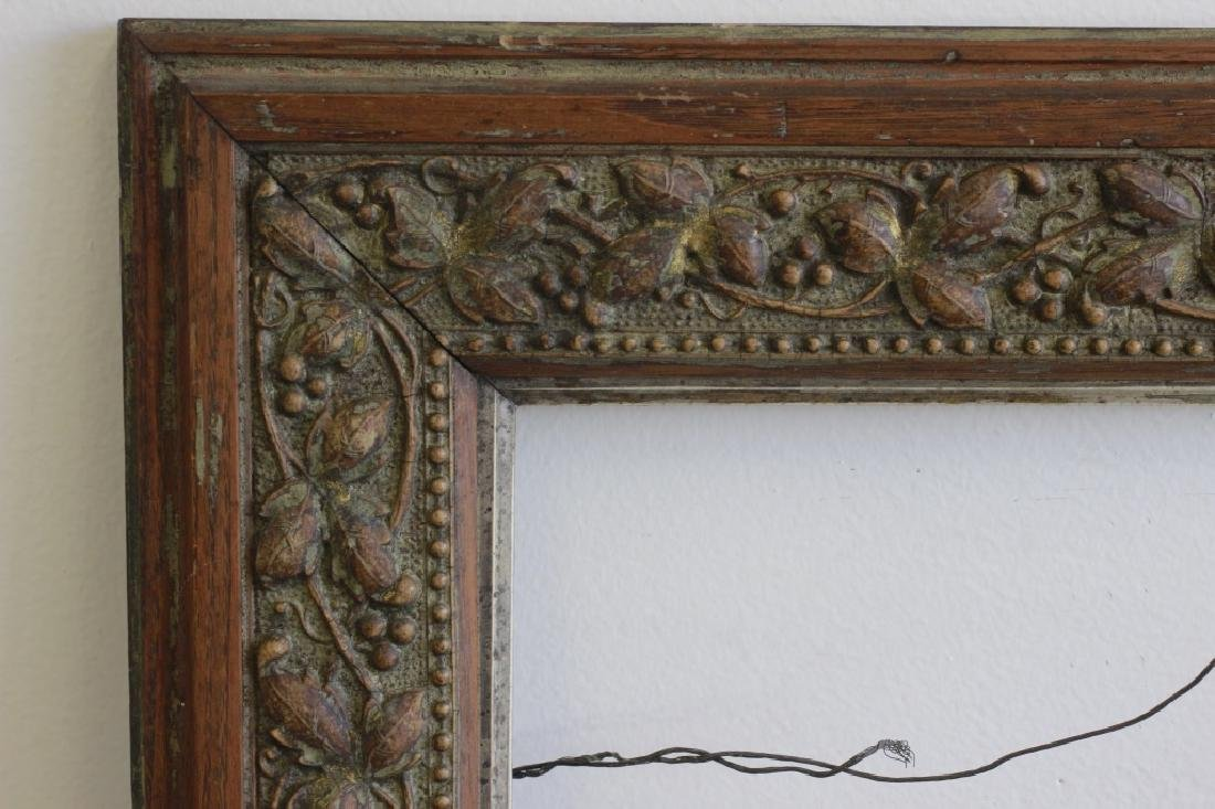 5 Old Frames. 1 with Mirror, 1 with Crest. 3 Empty - 5