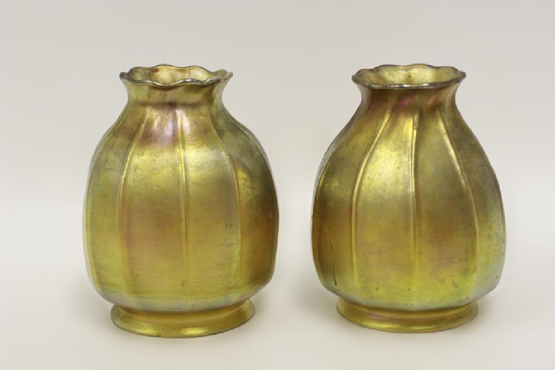 Pair of Small Tiffany Lamps w/ One Good Shade - 6