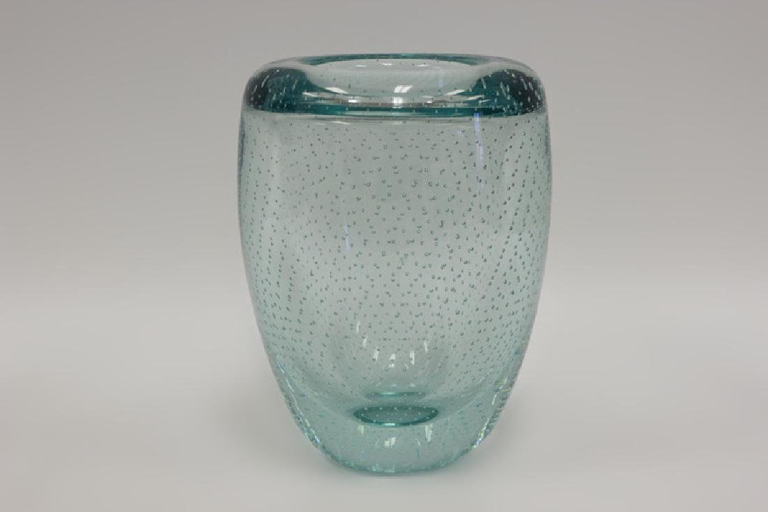 Blue Pairpoint Controlled Bubble Vase
