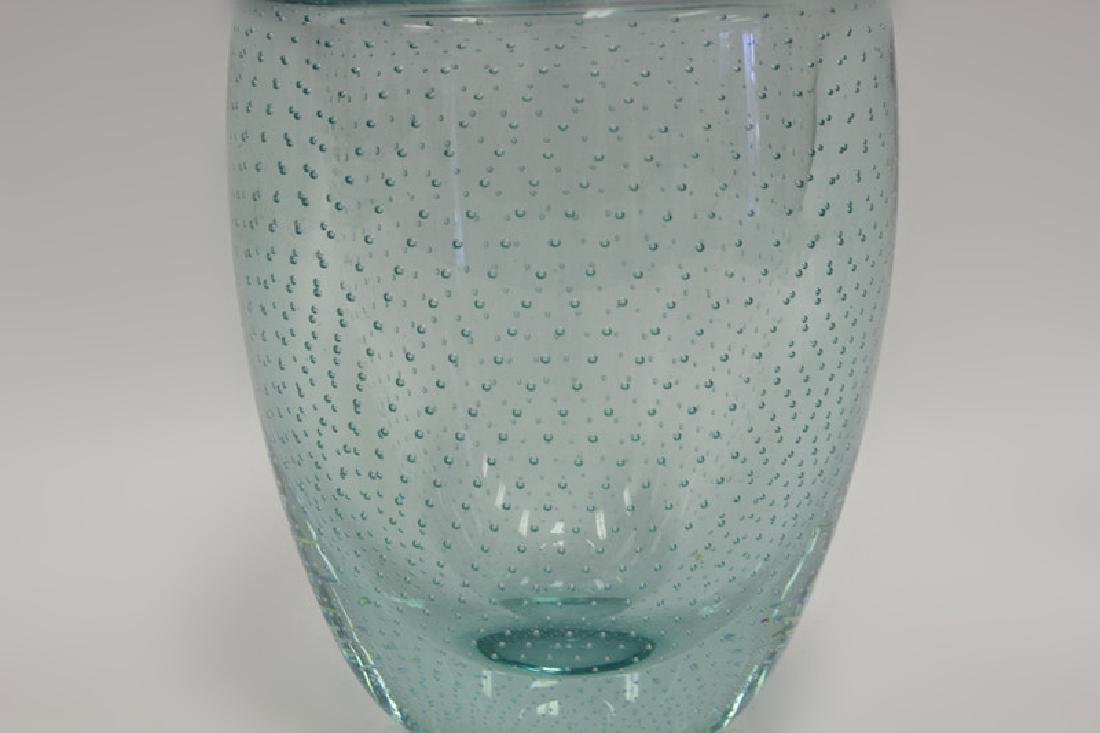 Blue Pairpoint Controlled Bubble Vase - 3