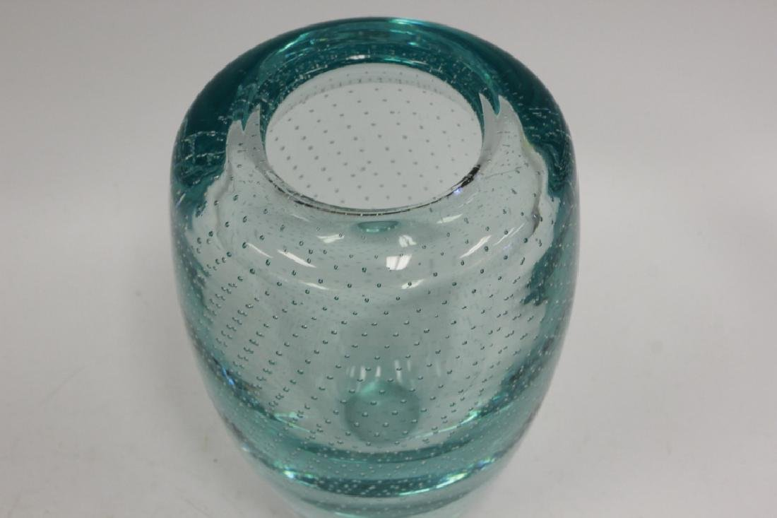 Blue Pairpoint Controlled Bubble Vase - 4