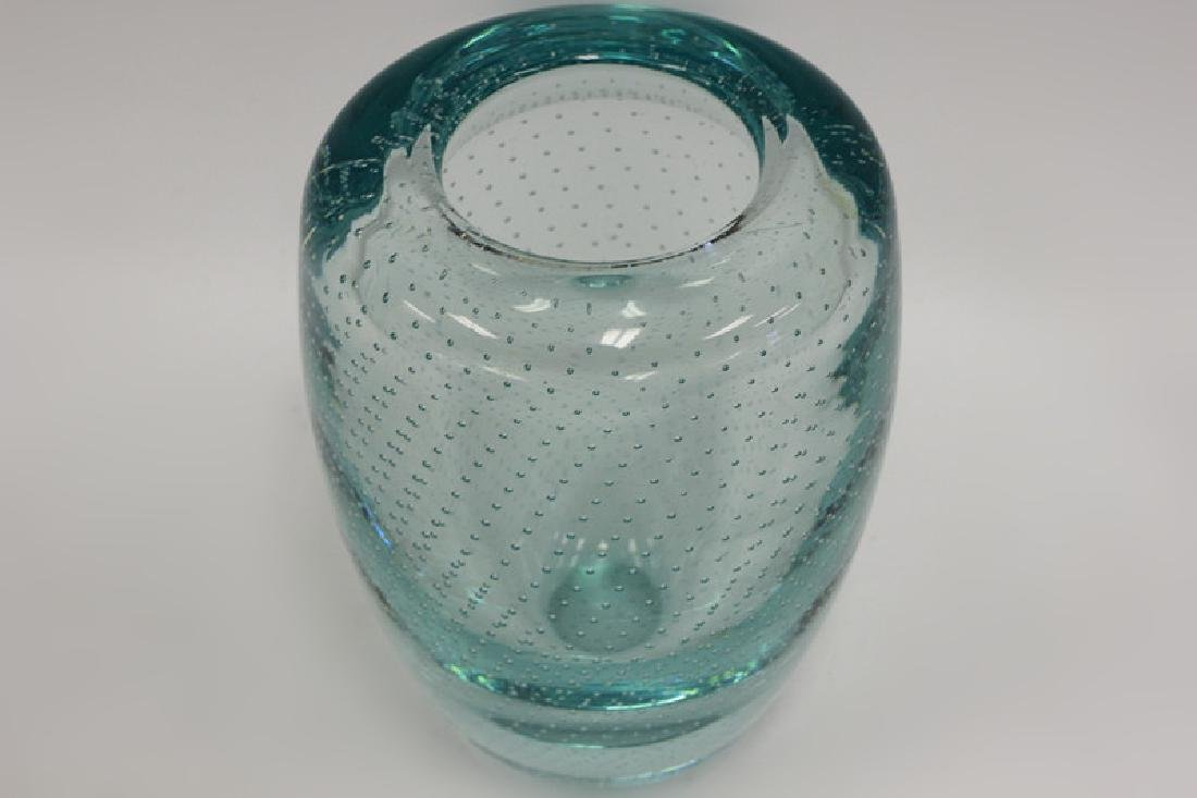 Blue Pairpoint Controlled Bubble Vase - 5