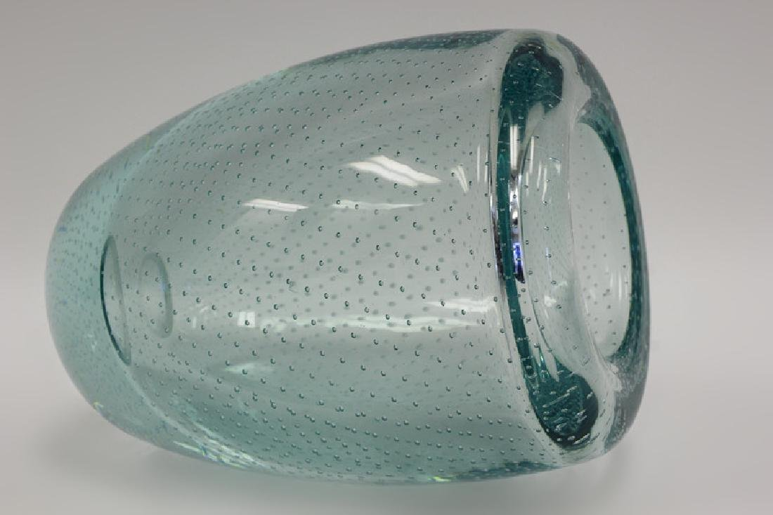 Blue Pairpoint Controlled Bubble Vase - 7