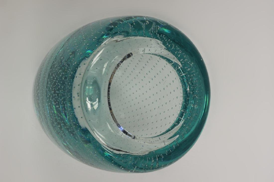 Blue Pairpoint Controlled Bubble Vase - 8