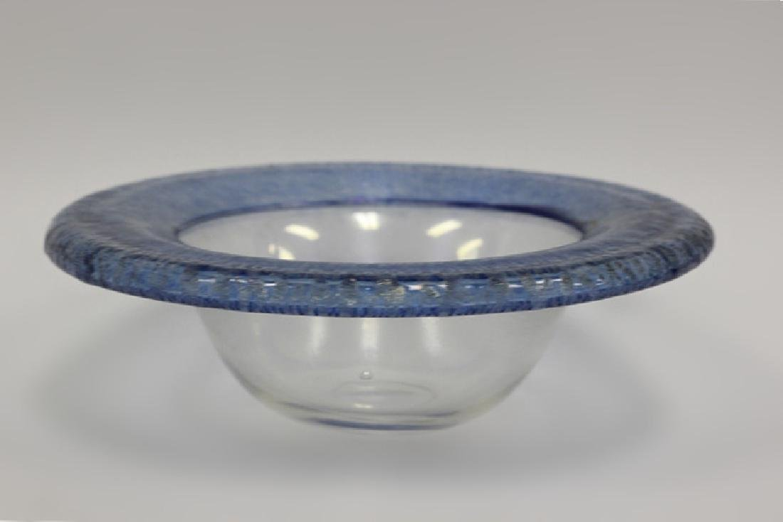 Glass Bowl Signed Christopher Williams
