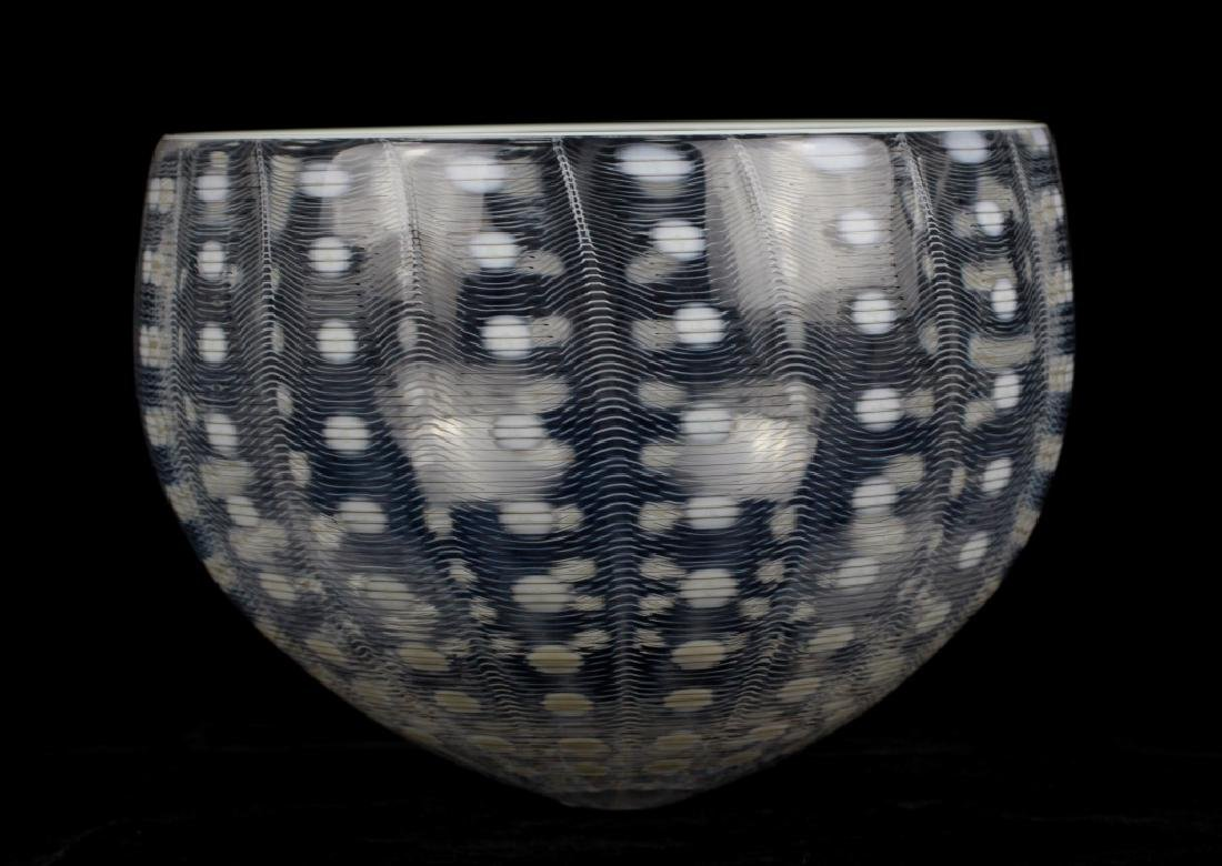 Unusual Glass Bowl Signed M. Tobias - 10