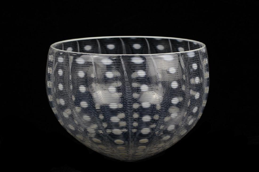 Unusual Glass Bowl Signed M. Tobias