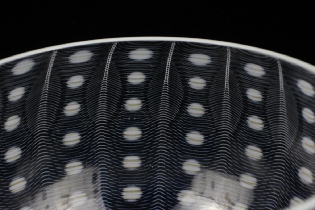 Unusual Glass Bowl Signed M. Tobias - 3