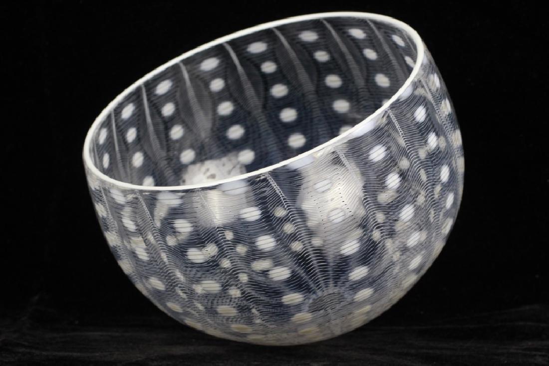 Unusual Glass Bowl Signed M. Tobias - 7