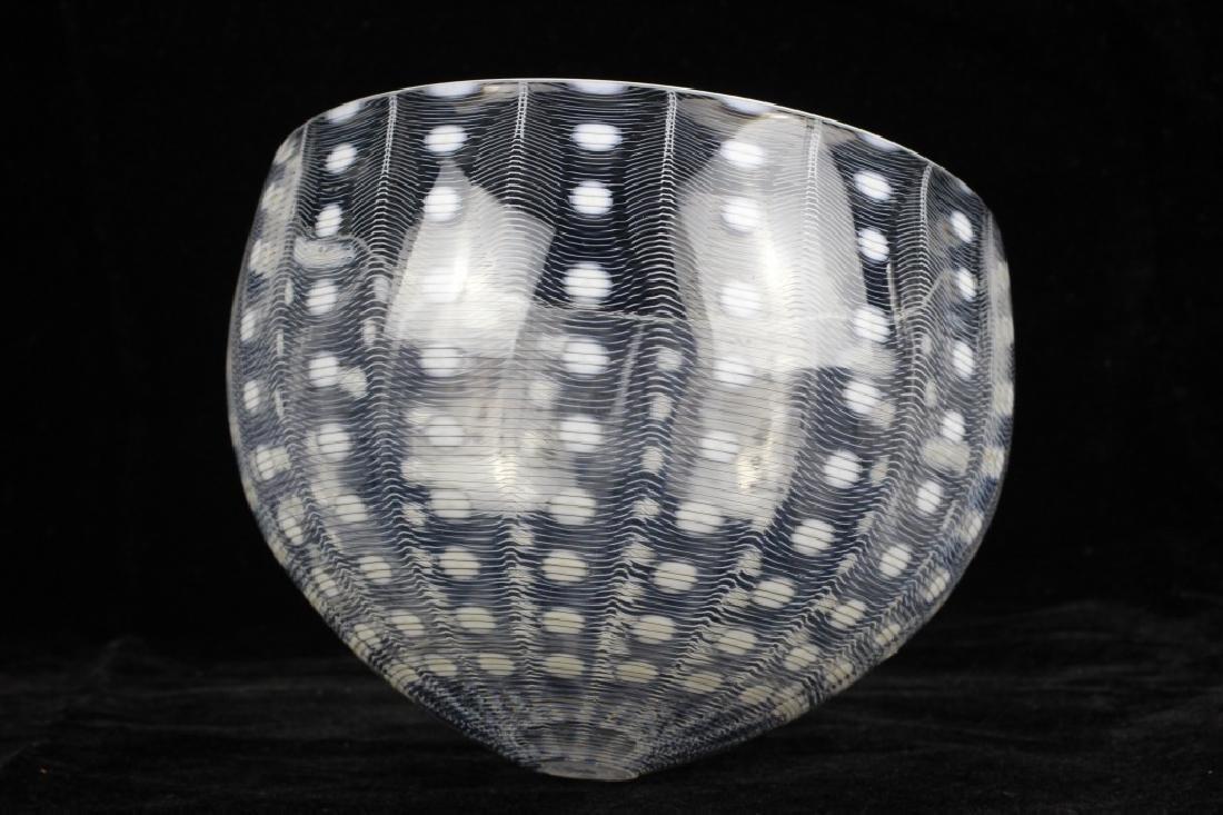 Unusual Glass Bowl Signed M. Tobias - 8