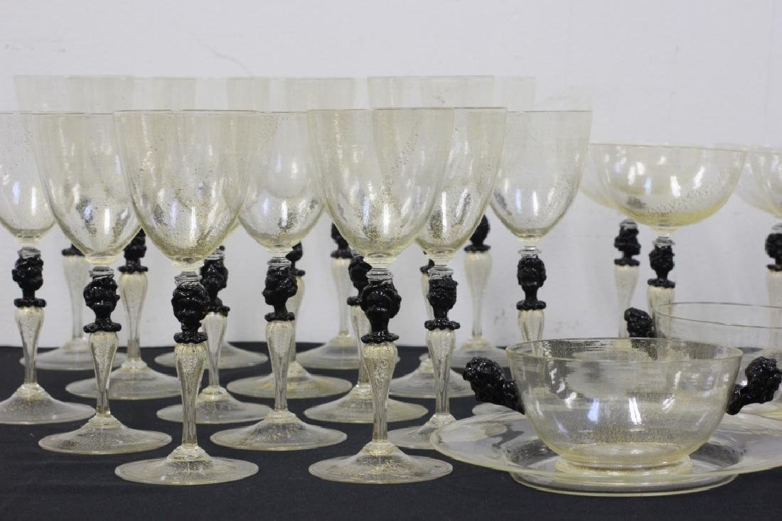 43 Piece Murano Glass Set, Circa 1940's - 2