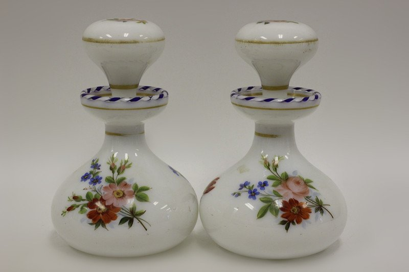Pair of 19thc Perfume Bottles