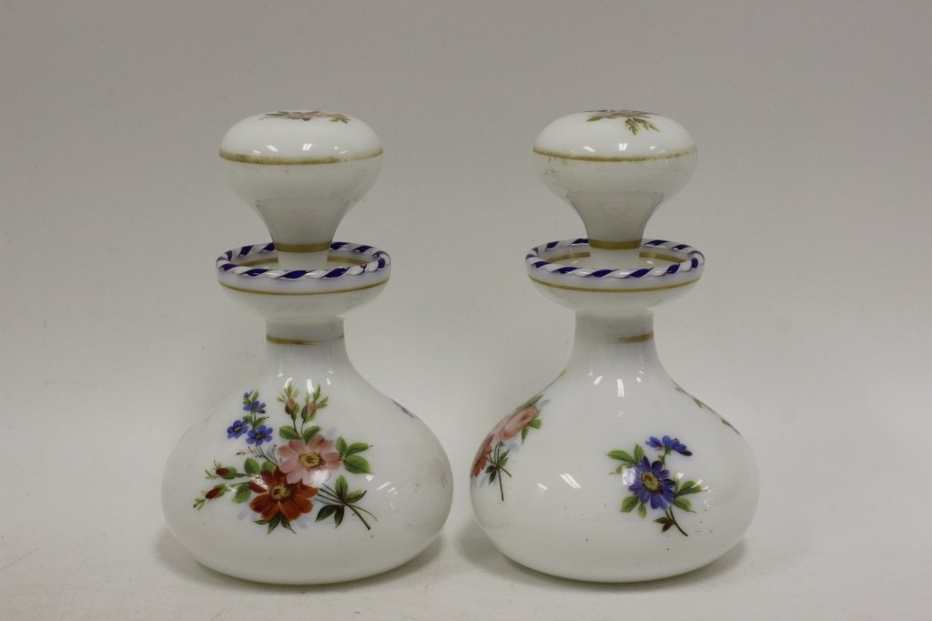 Pair of 19thc Perfume Bottles - 5
