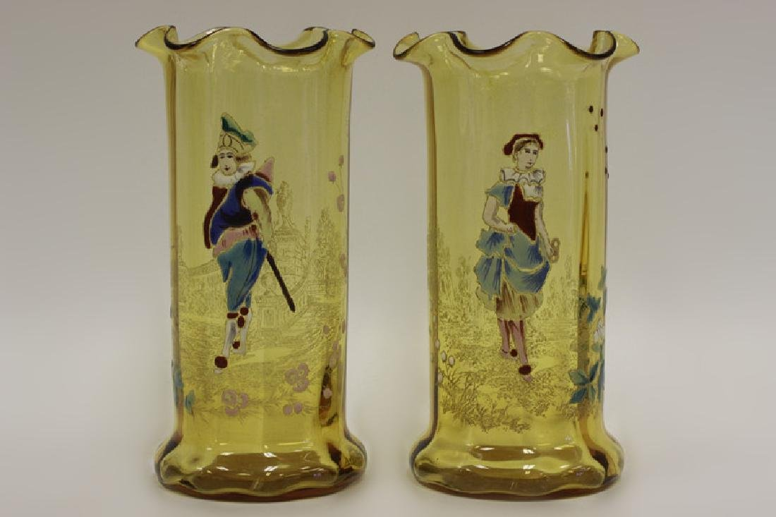 Pair of 19thc French Glass Vases