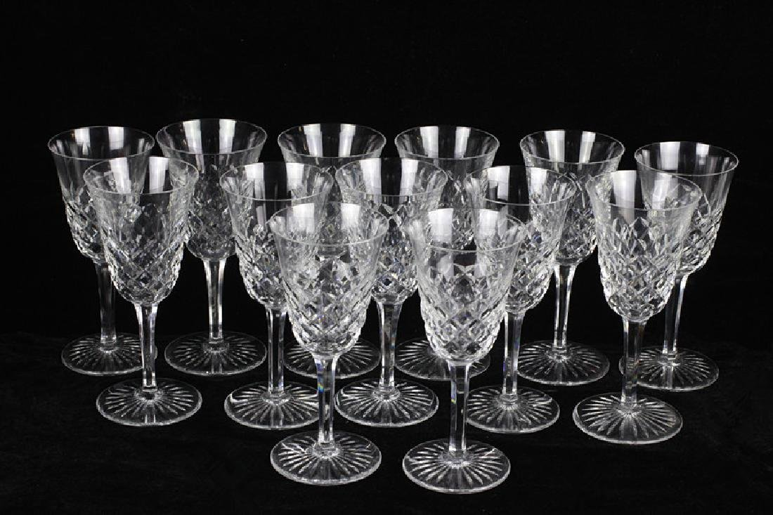 13 Baccarat Cut Crystal Wine Glasses,  All Signed