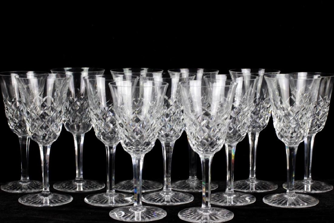 13 Baccarat Cut Crystal Wine Glasses,  All Signed - 2