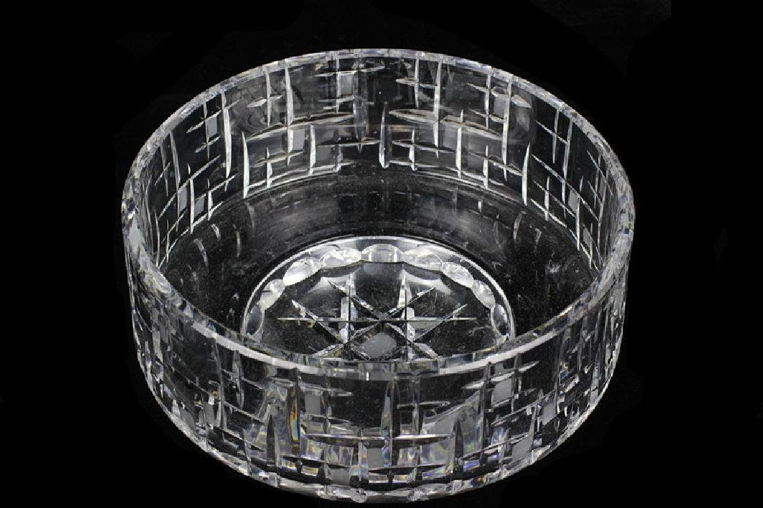 Mid Century Heavy Cut Crystal Bowl - 2