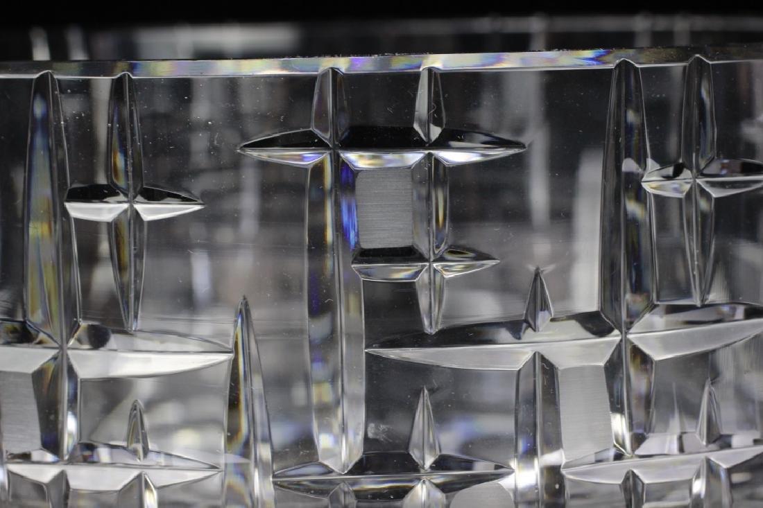 Mid Century Heavy Cut Crystal Bowl - 3