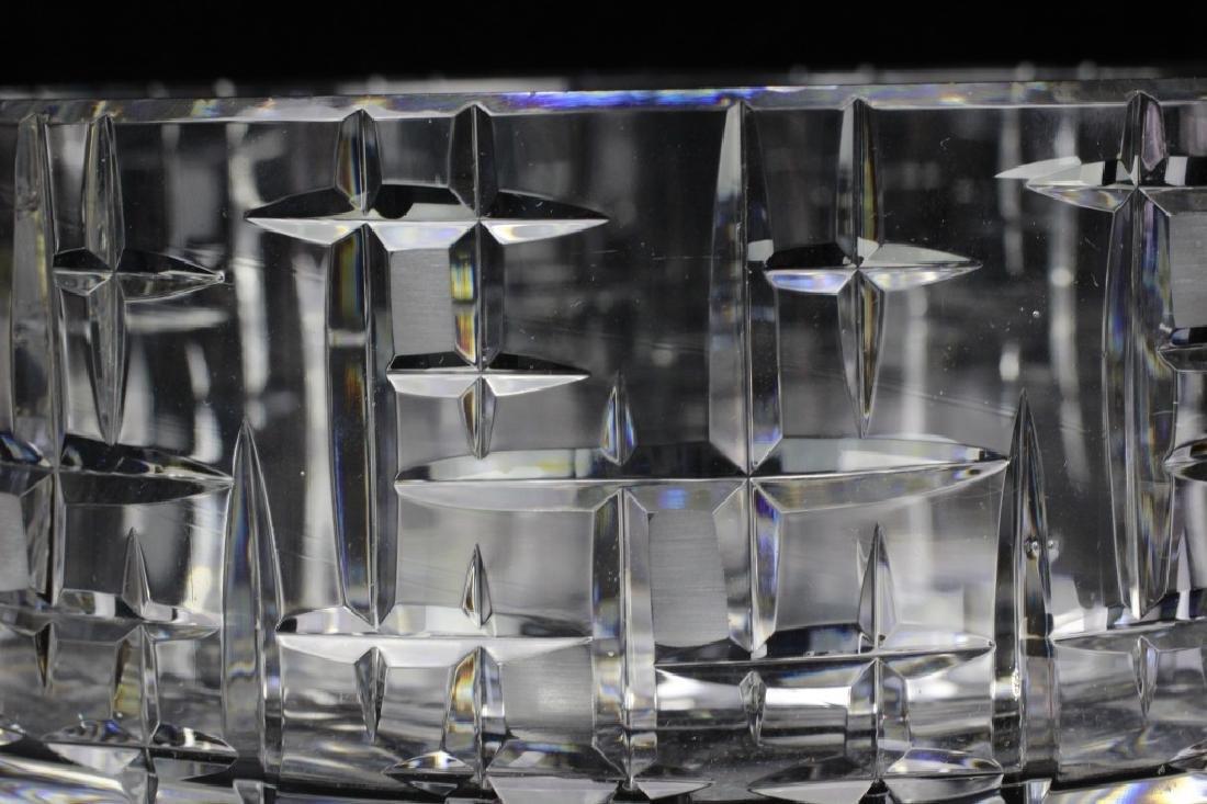 Mid Century Heavy Cut Crystal Bowl - 4