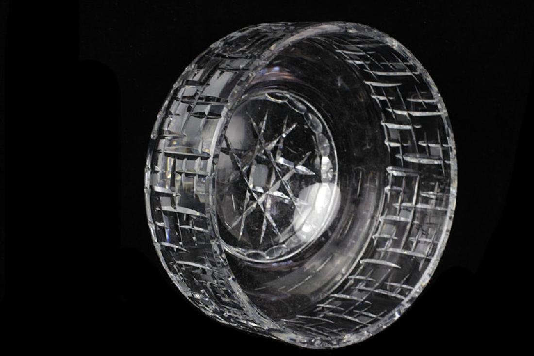 Mid Century Heavy Cut Crystal Bowl - 5