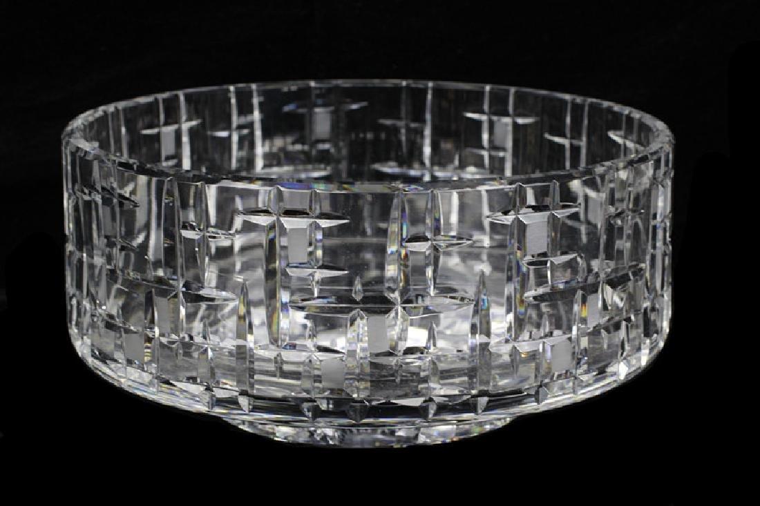 Mid Century Heavy Cut Crystal Bowl - 7