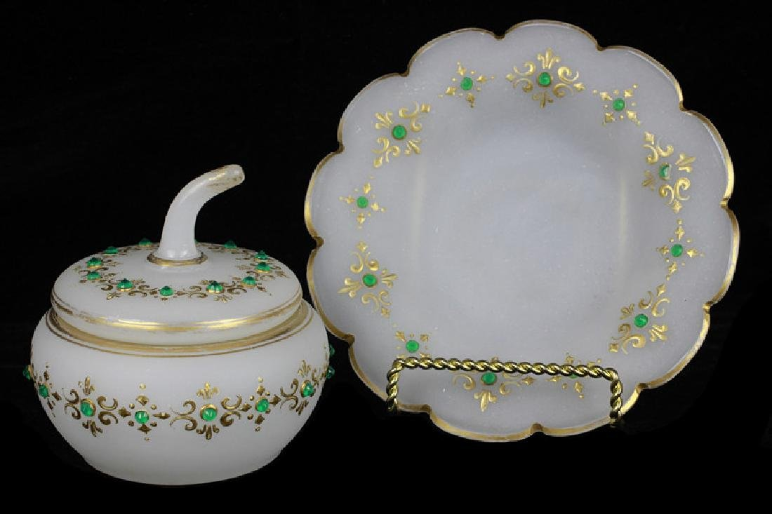 Group of Old Bohemian & Porcelain Items - 10