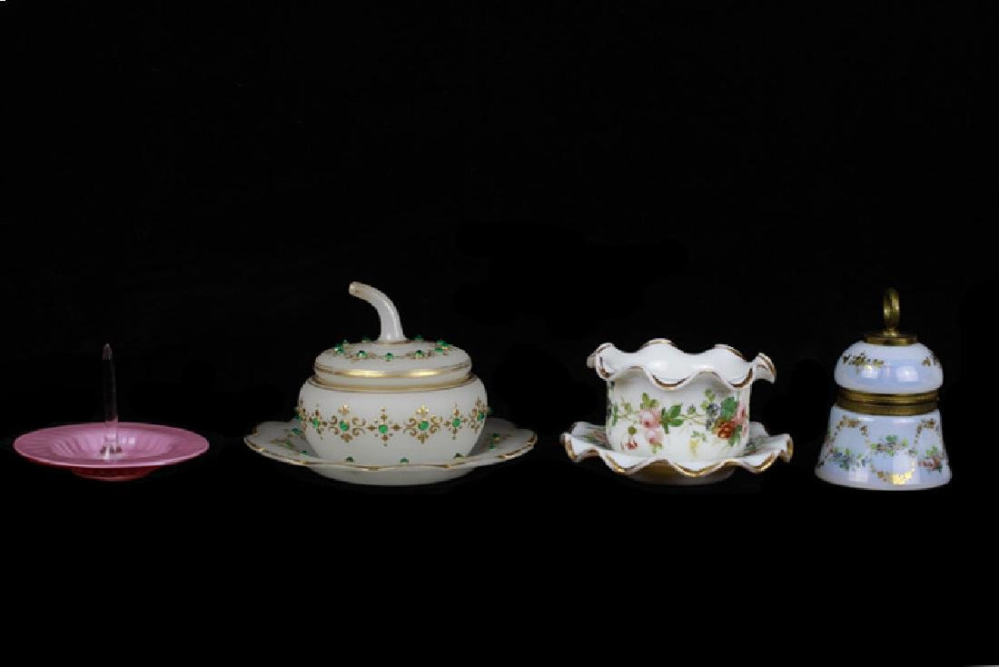 Group of Old Bohemian & Porcelain Items