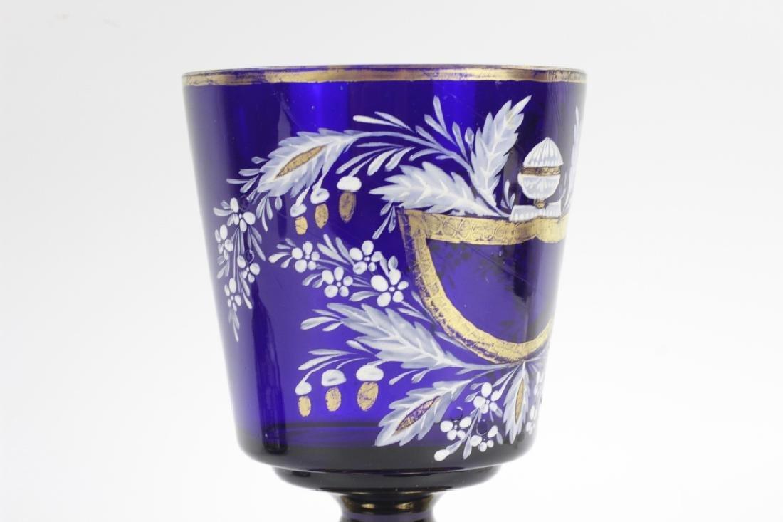 Early Cobalt Blue Covered Vase - 6