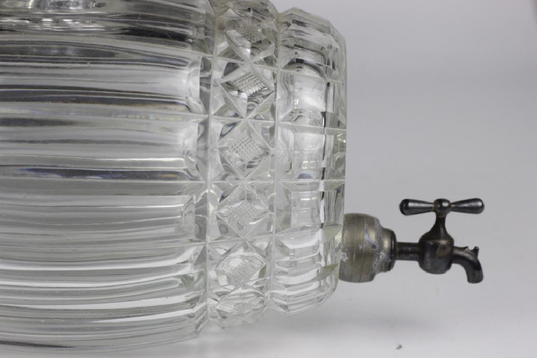 Cut Crystal Barrel Shape Liquor Dispenser w/ Stand - 3