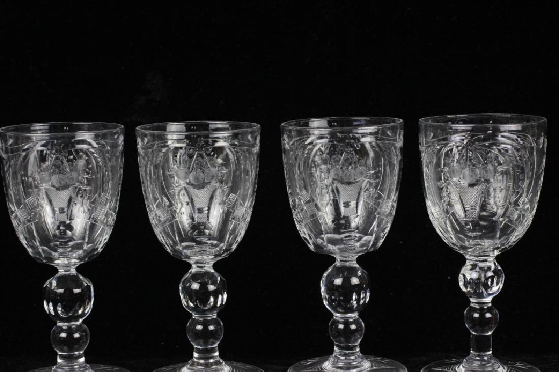 8 Webb Cut Crystal Port Glasses, All Signed - 5