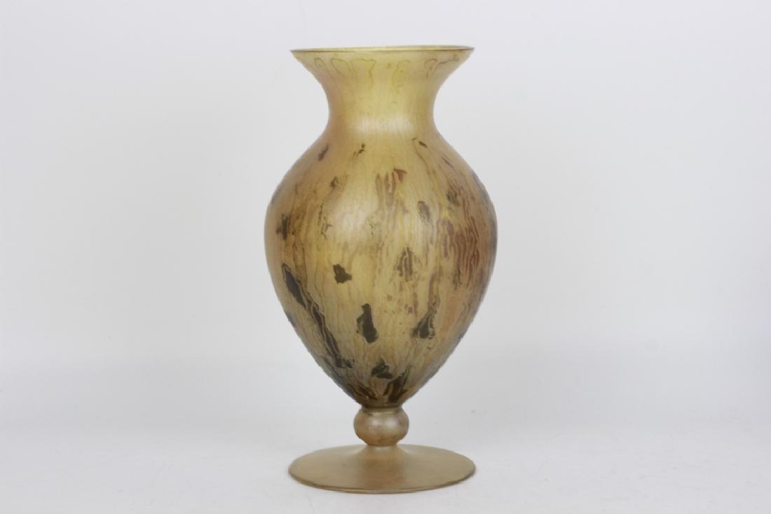 German Art Glass Vase, Kristalglasfabrik Spiegelau