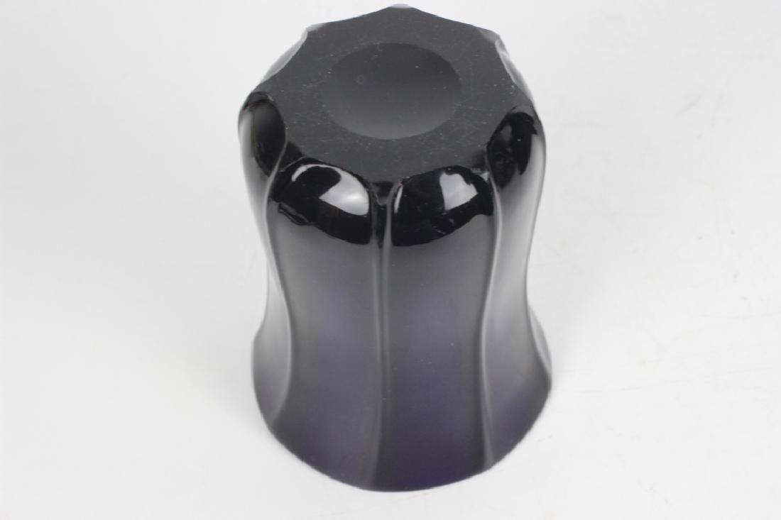 2 Cobalt Blue Glass Items - 10
