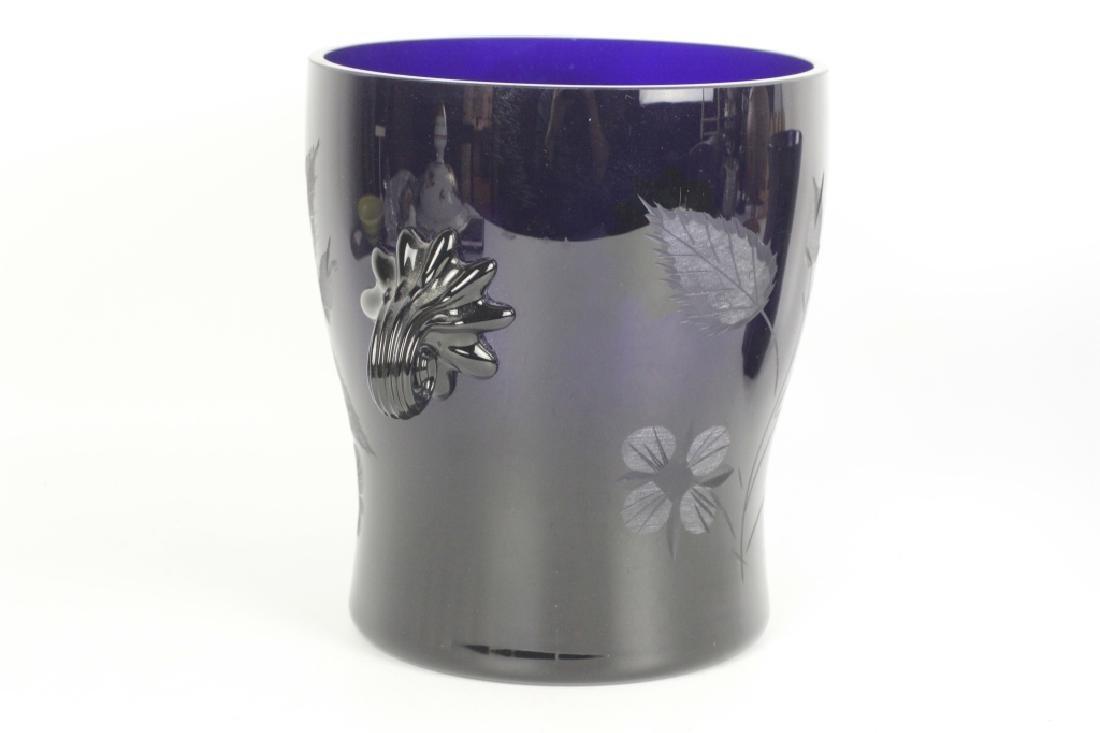 2 Cobalt Blue Glass Items - 3