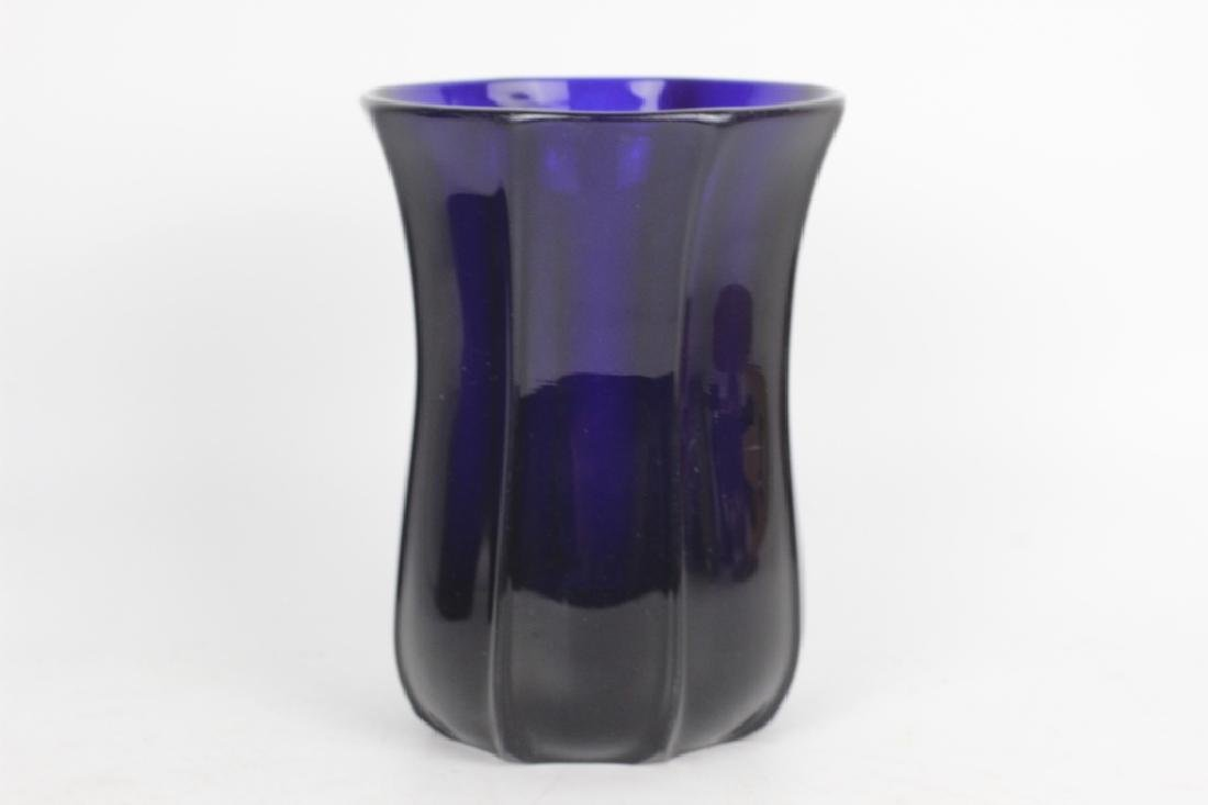2 Cobalt Blue Glass Items - 6