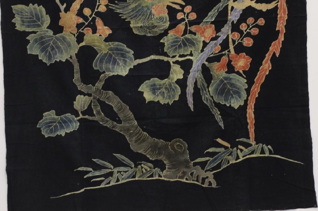 19thc Japanese Cotton Banner, Design of a Bird - 3