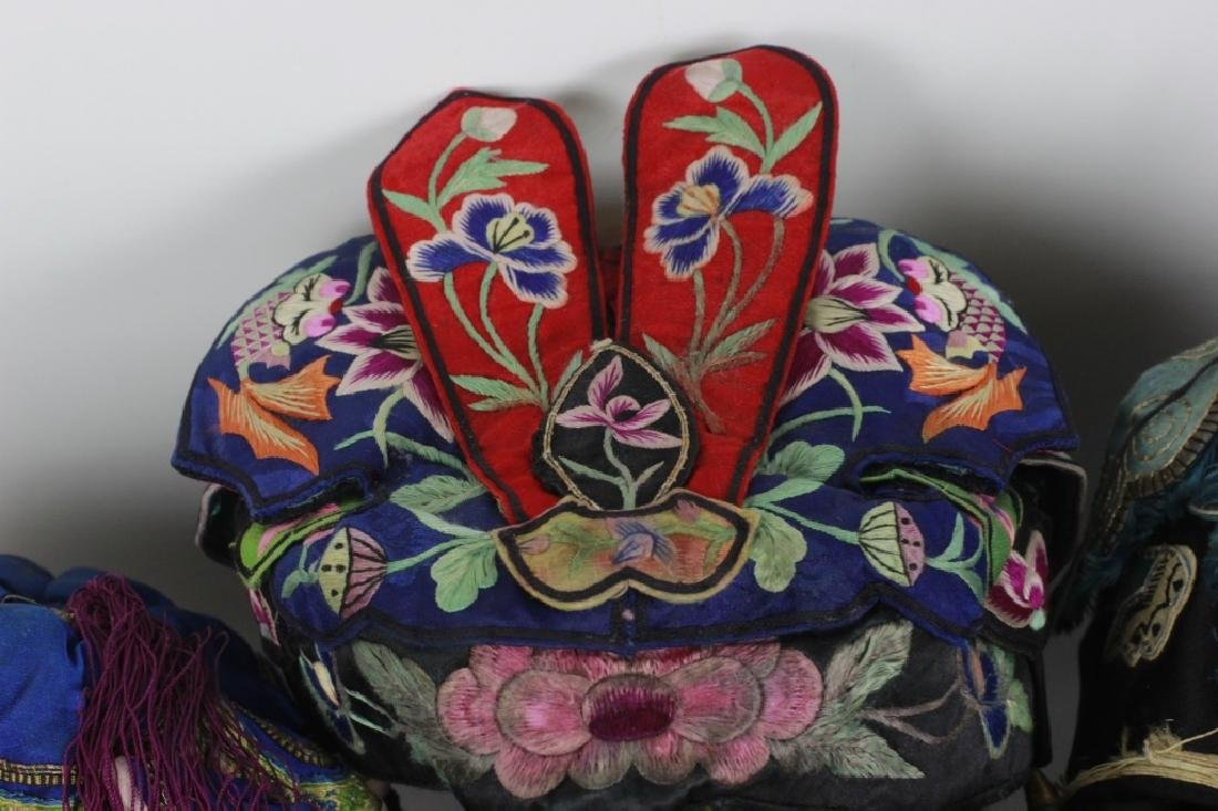 Rare Set of 13 Old Chinese Festival Hats - 6