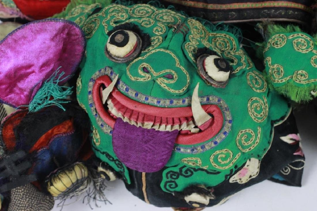 Rare Set of 13 Old Chinese Festival Hats - 9