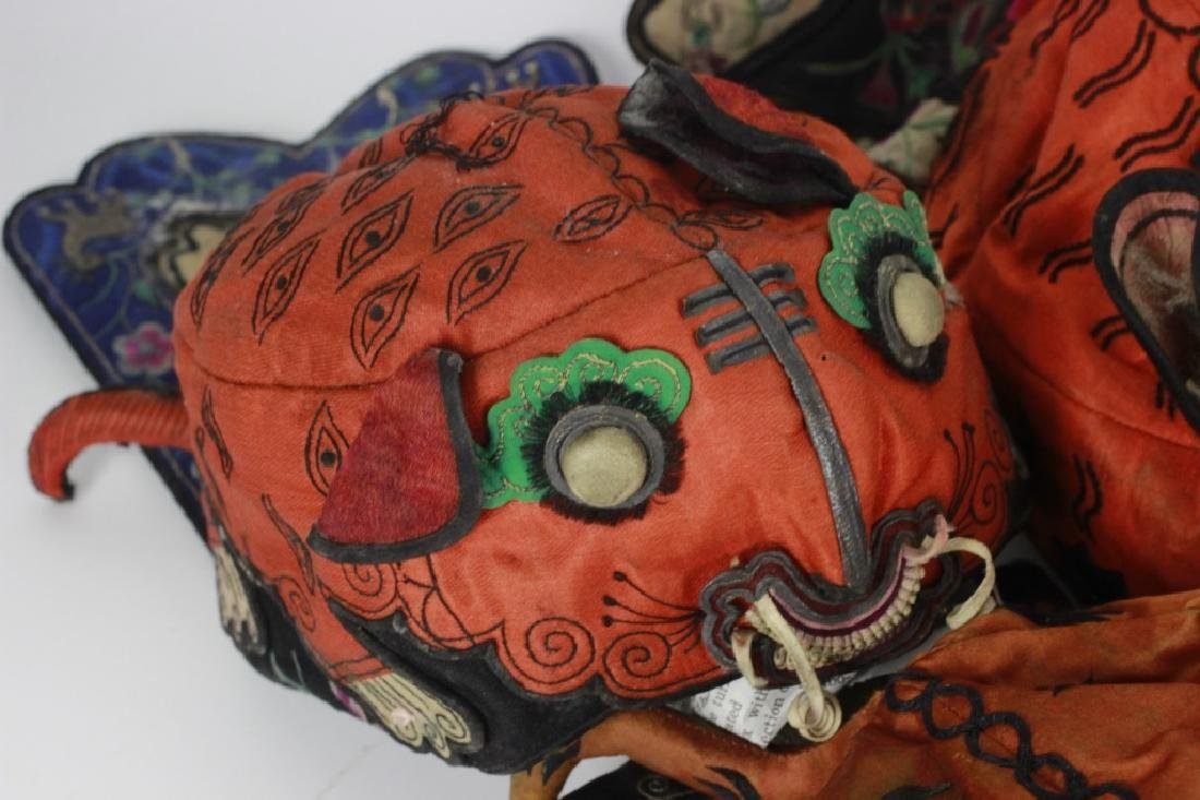 Rare Set of 10 Old Chinese Festival Hats - 8