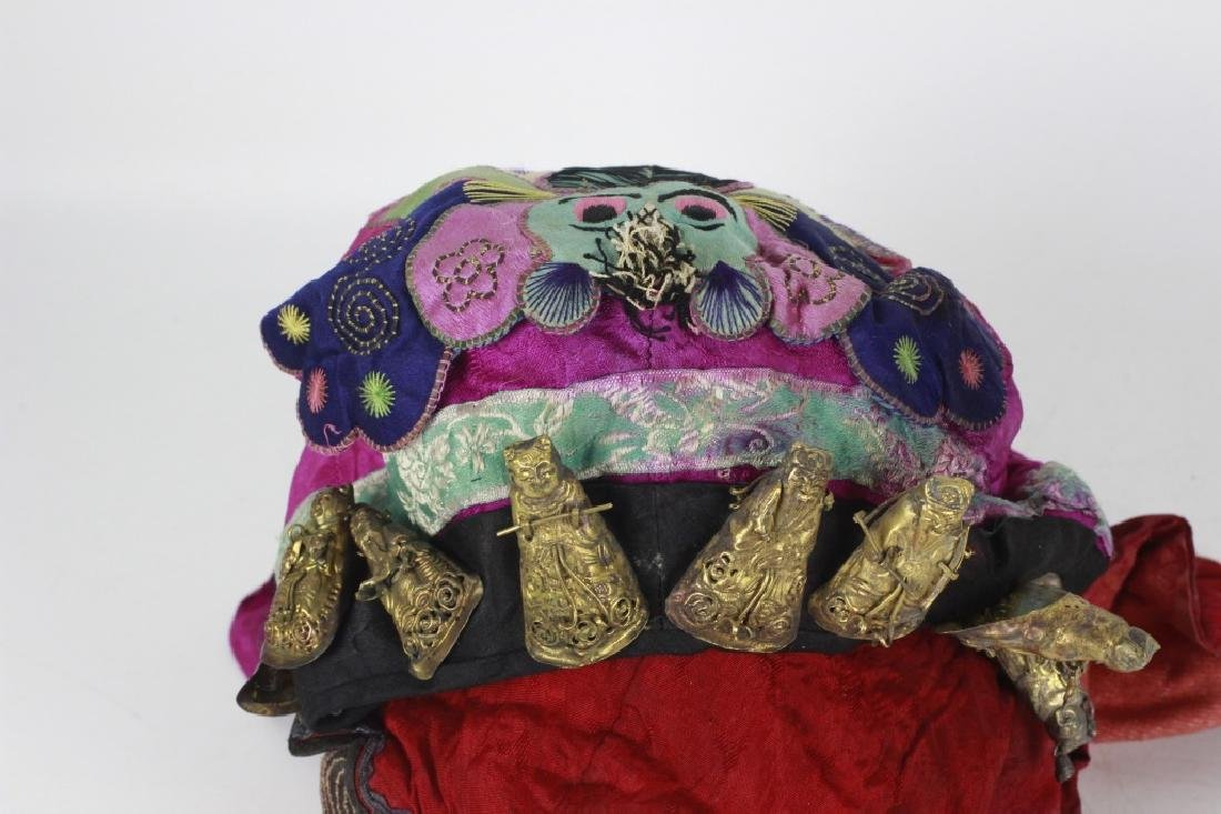 Rare Set of 11 Old Chinese Festival Hats - 10