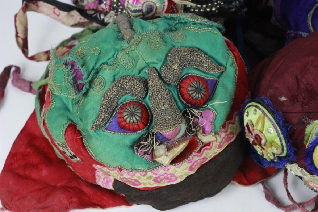 Rare Set of 11 Old Chinese Festival Hats - 2