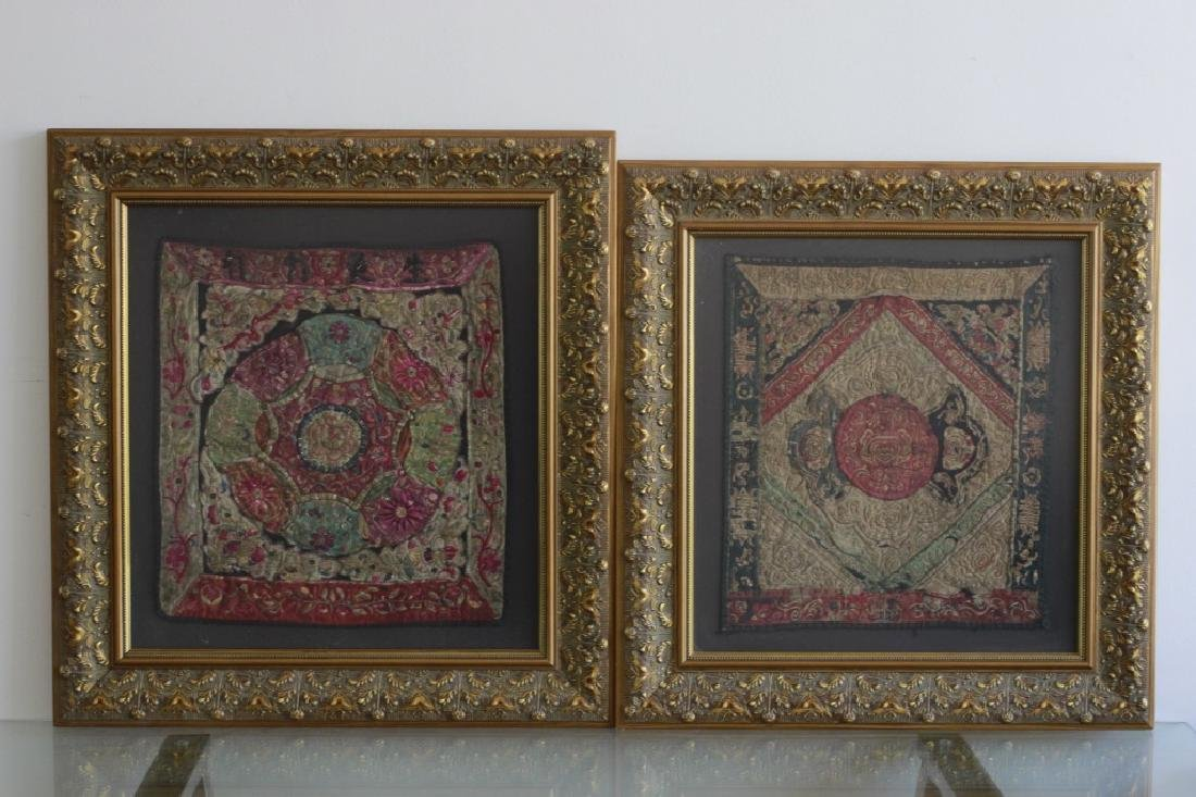 Pair of Gilt Framed Embroideries