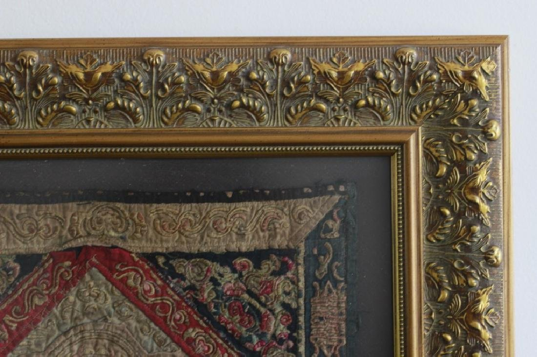 Pair of Gilt Framed Embroideries - 2