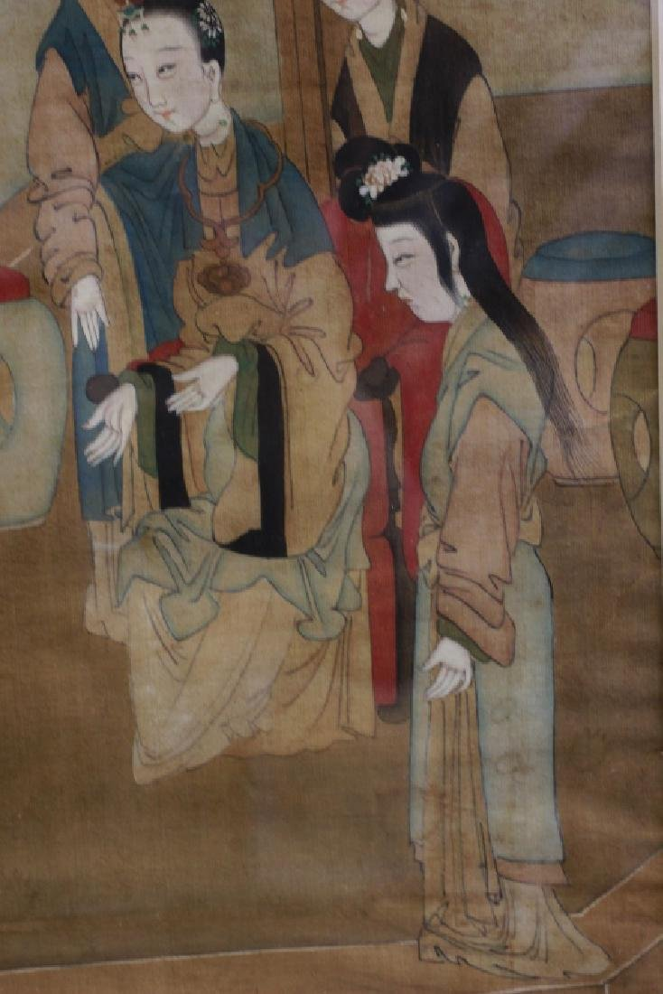 Pair of Hand Painted Chinese Paintings on Silk - 7