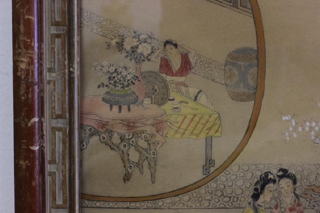 2 Chinese Paintings,  Framed - 10