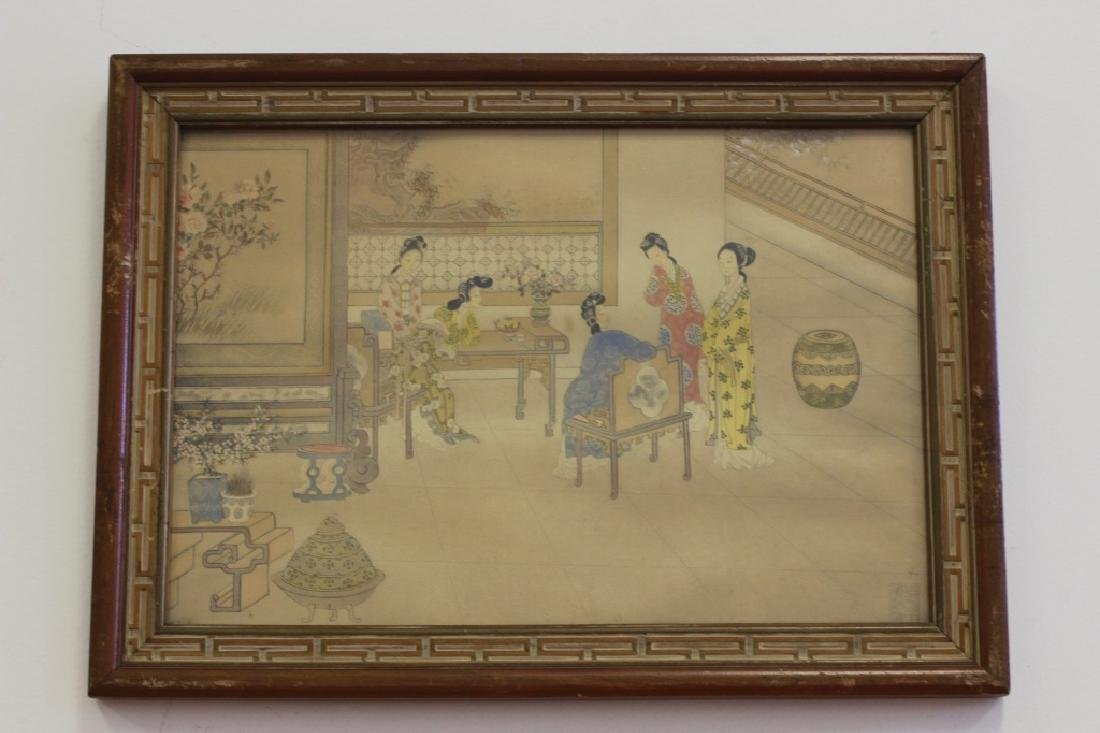 2 Chinese Paintings,  Framed - 2
