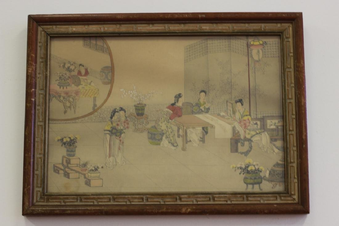 2 Chinese Paintings,  Framed - 3