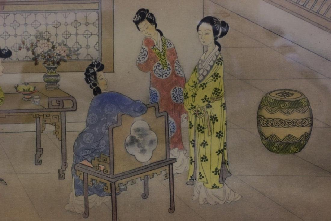 2 Chinese Paintings,  Framed - 4