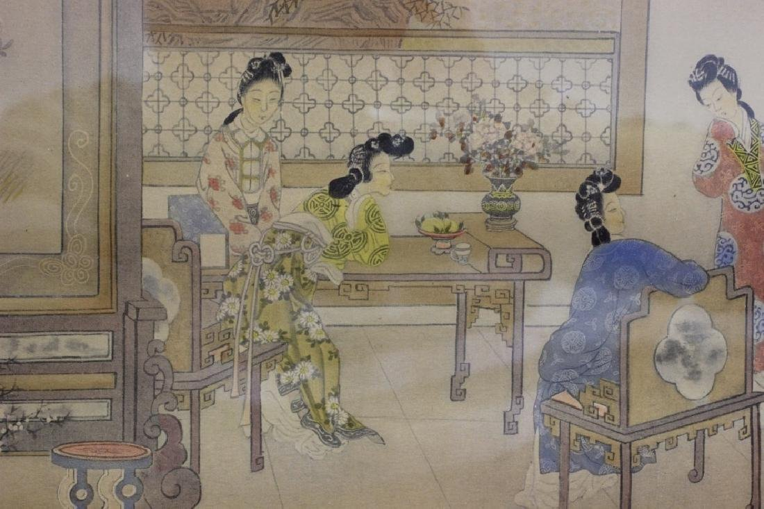 2 Chinese Paintings,  Framed - 5