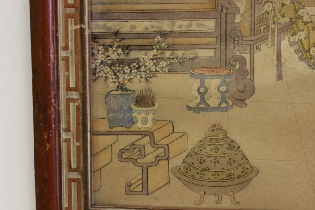 2 Chinese Paintings,  Framed - 6