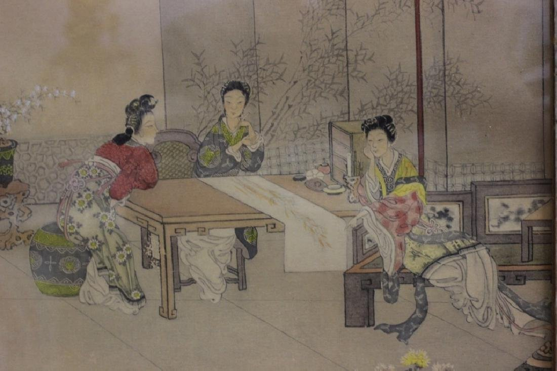 2 Chinese Paintings,  Framed - 8